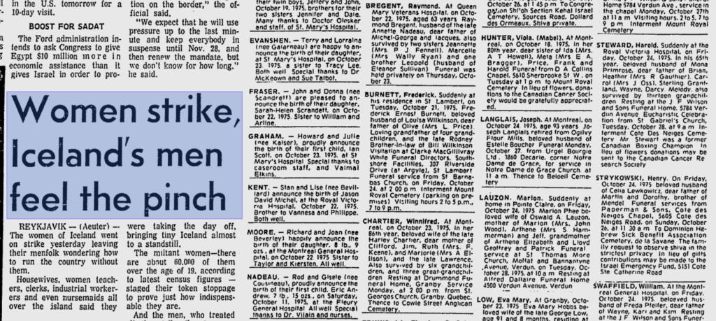 The Montreal Gazette, Oct 25, 1975.