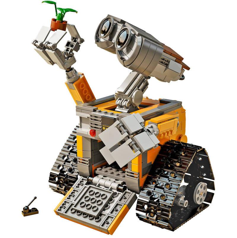 Bajkowy robot Wall-e z klocków Lego