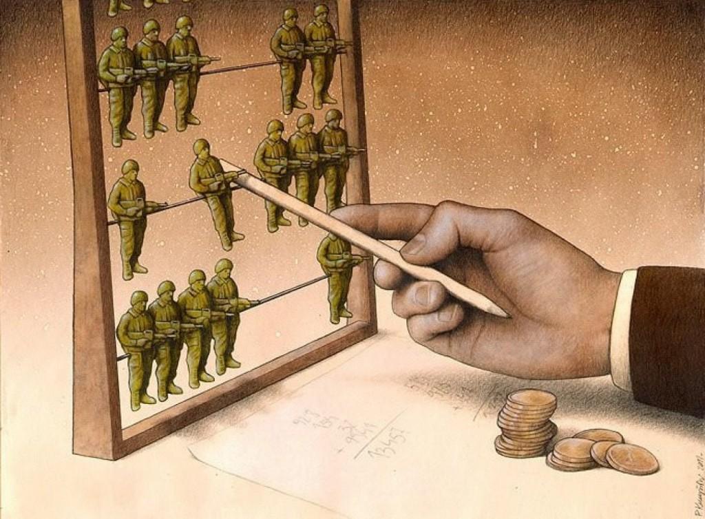 Żołnierze zamiast kulek na liczydle