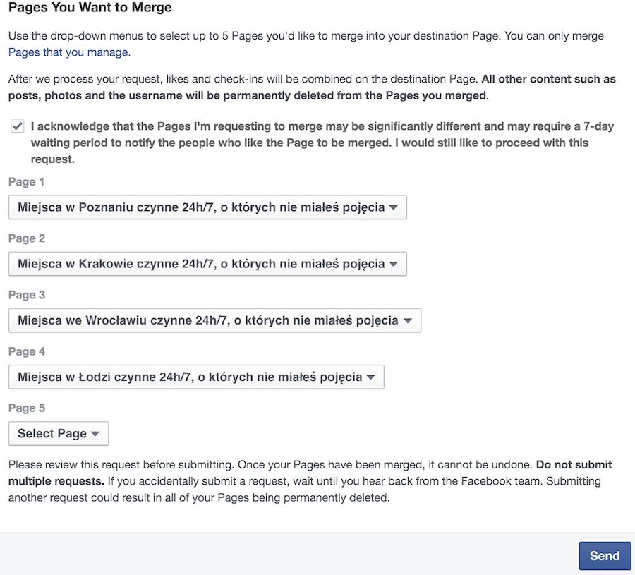 Jak połączyć strony na Facebooku?
